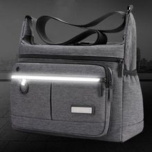 Men Casual Canvas Crossbody Bag For School Durable Messenger Bags Light Shopping Travel Shoulder Bag