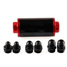 Filtre rouge nettoyable de 58mm   100 microns, montage universel de filtre à carburant en ligne, adaptateur Turbo 6AN 8AN 10AN