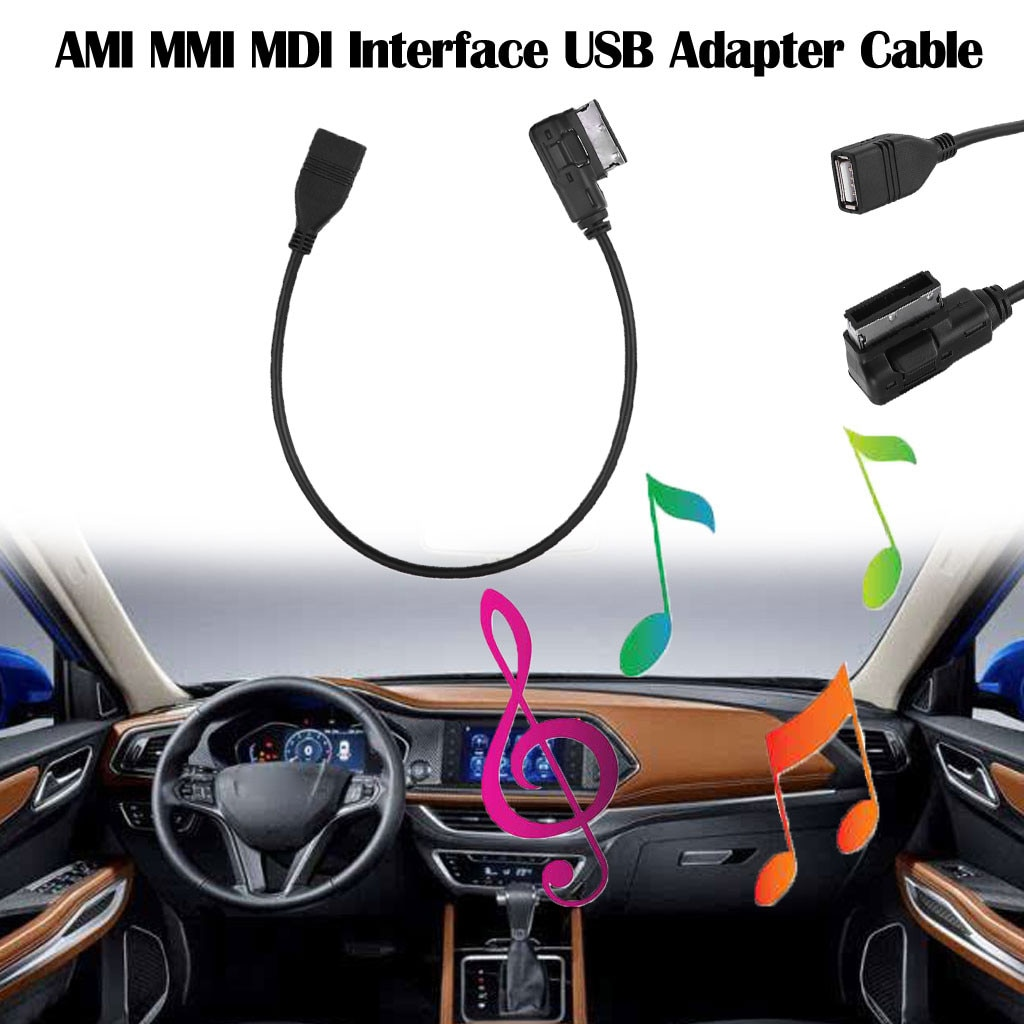 Nova música ami mmi mdi interface usb adaptador cabo para a3 a4 a8 q5 q7 carro cabo usb para audi a8 para volkswagen jetta mk5 # py10