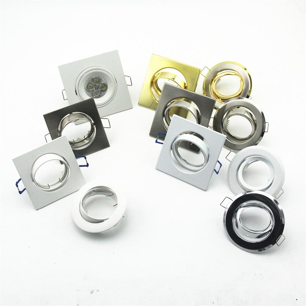 Бесплатная доставка, 10 шт./лот, набор золотых круглых фитингов Gu10/mr16/GU5.3, светодиодные прожекторы