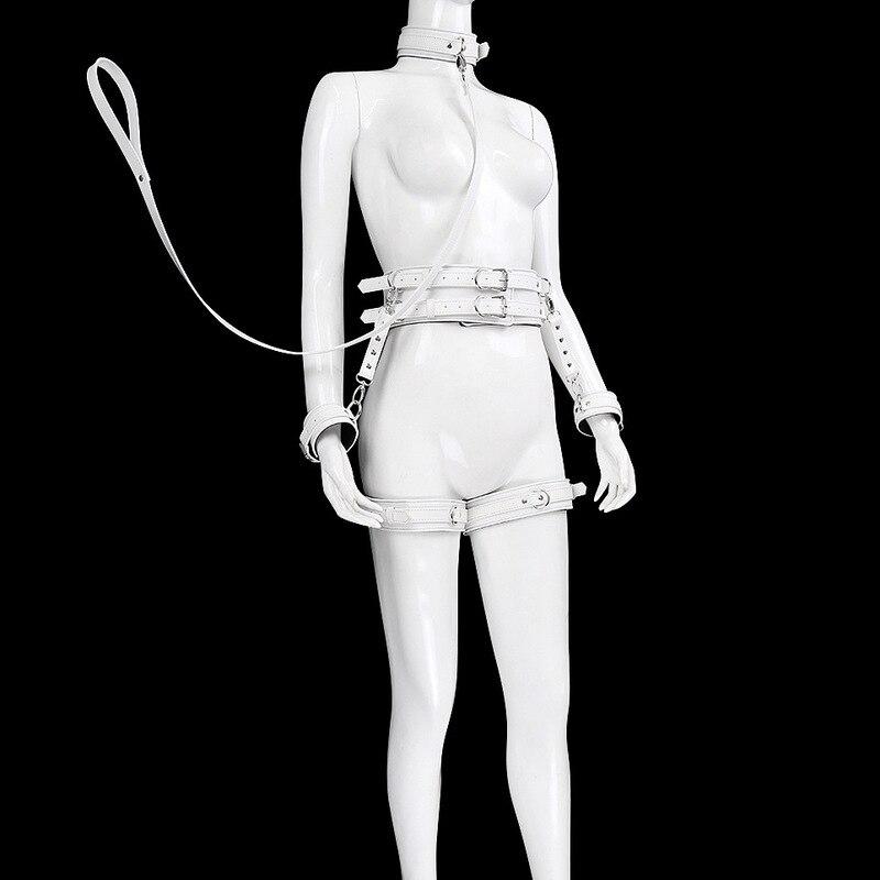 SM-ألعاب جنسية للأزواج, ألعاب جنسية أصفاد من الجلد للزوجين مثير برقبة على شكل كم ، ألعاب جنسية للبالغين ، أدوات جنسية للأزواج ، قيود وأصفاد