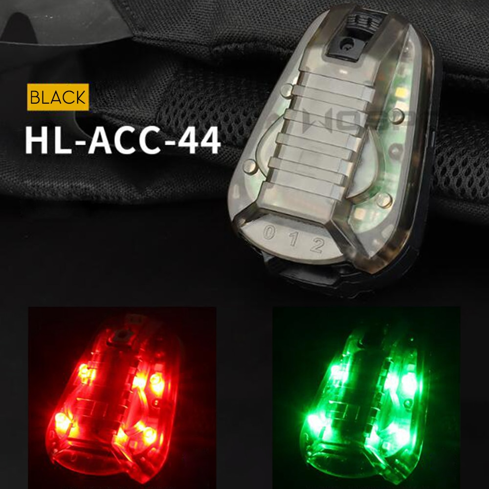 Tactical Airsoft Helmet Signal Light Strobe Light Waterproof IR Safety Paintball Game Sports Outdoor Indicators Light LED