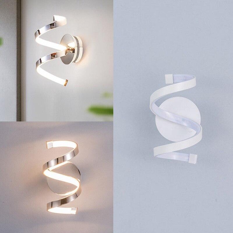 16 Вт современный минималистичный светодиодный настенный светильник для гостиной домашний спиральный дизайн прикроватный настенный свети...