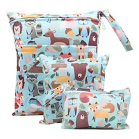 reusable wet bag mini wetbag for cloth diaper nappy nursing menstrual pad pul stroller maternity wet diaper bag washable 3pc set