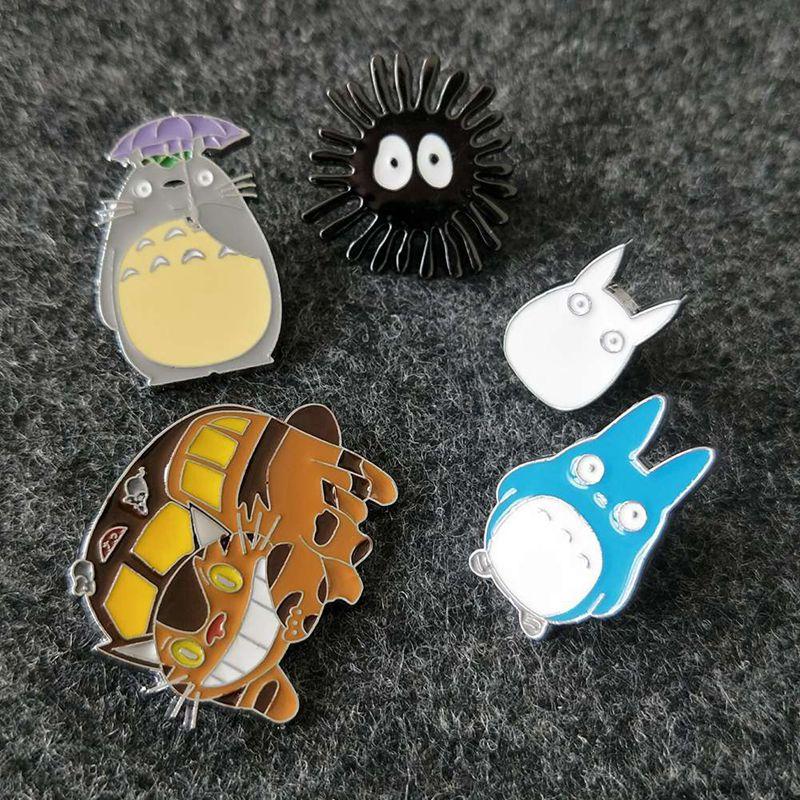 1 Uds Totoro anime de Japón pines esmaltados broches mujer Niñas Ropa Pin insignia Animal Catoon regalo de broche de joyería para niños