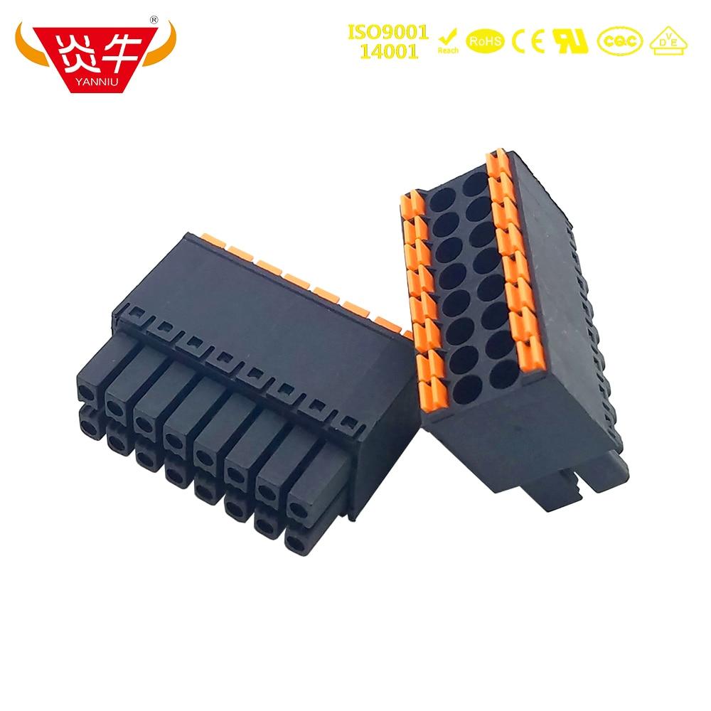 3.5mm 15EDGKNH KF2EDGKS DFMC 1,5/ 4-ST-3,5 1790124 FEMALE PCB CONNECTOR PLUGGABLE PLUG-IN TEMINAL BLOCKS PHOENIX CONTACT YANNIU