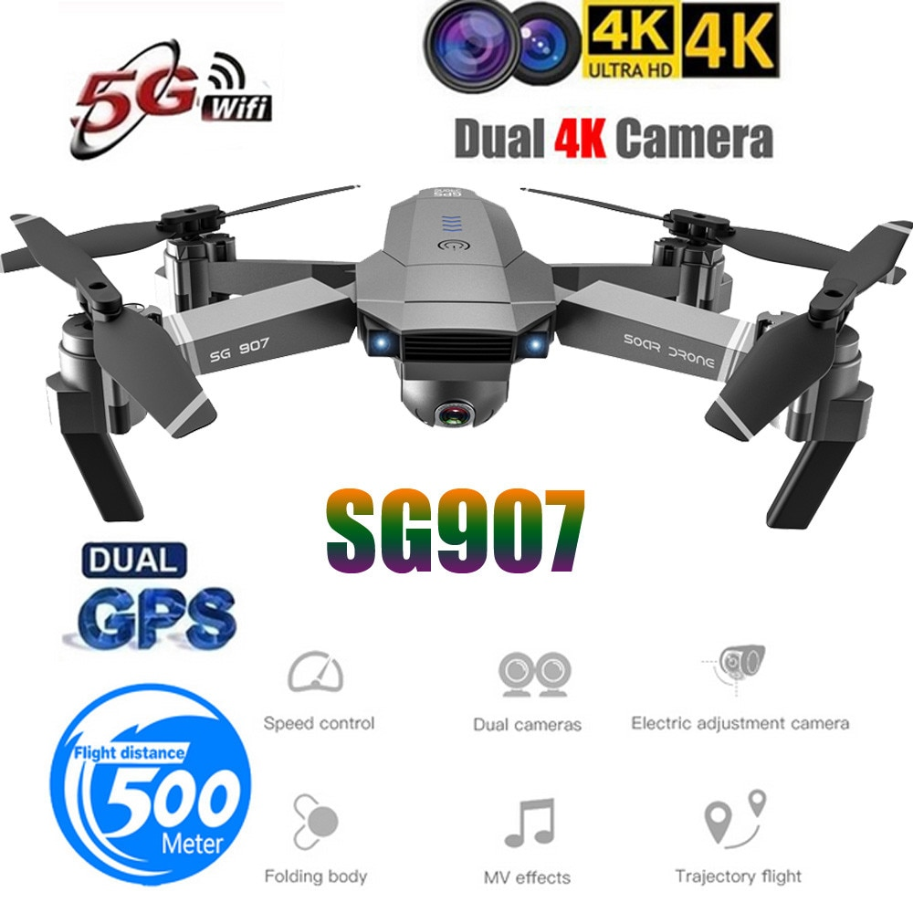 Sg907 New GPS/Optical Flow Dual Positioning Aircraft 1080P HD Camera Aerial Photography Quadcopter 5G WIFI RC Helicopter