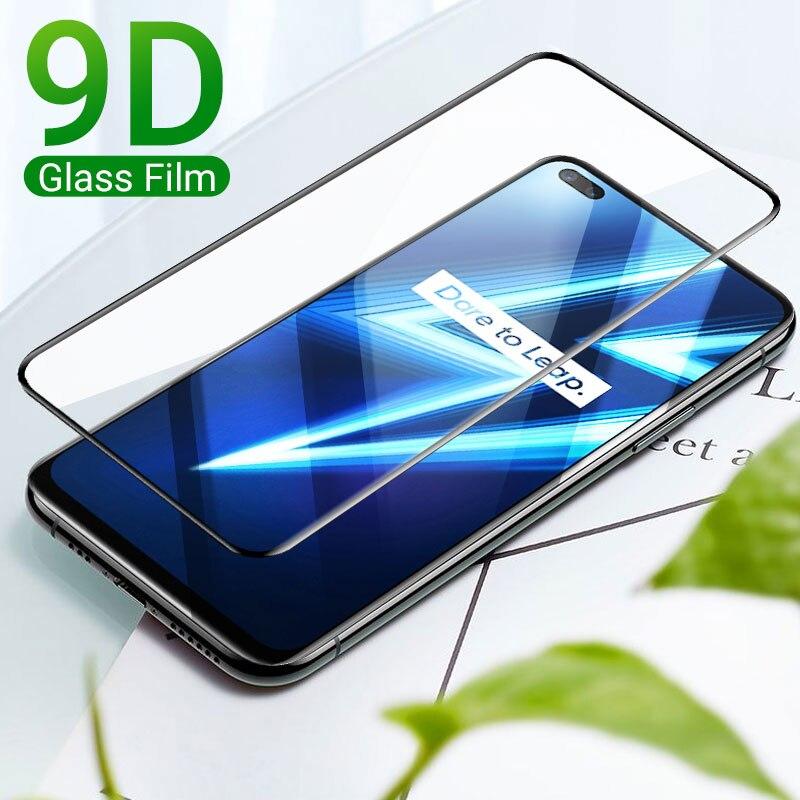 Realme 8 Screen Protector For Oppo Realme Q3 C3 7 6 Pro Narzo 30a GT Neo C25 C21 8 A95 5G A35 2021 Glass Full Cover Screen Film