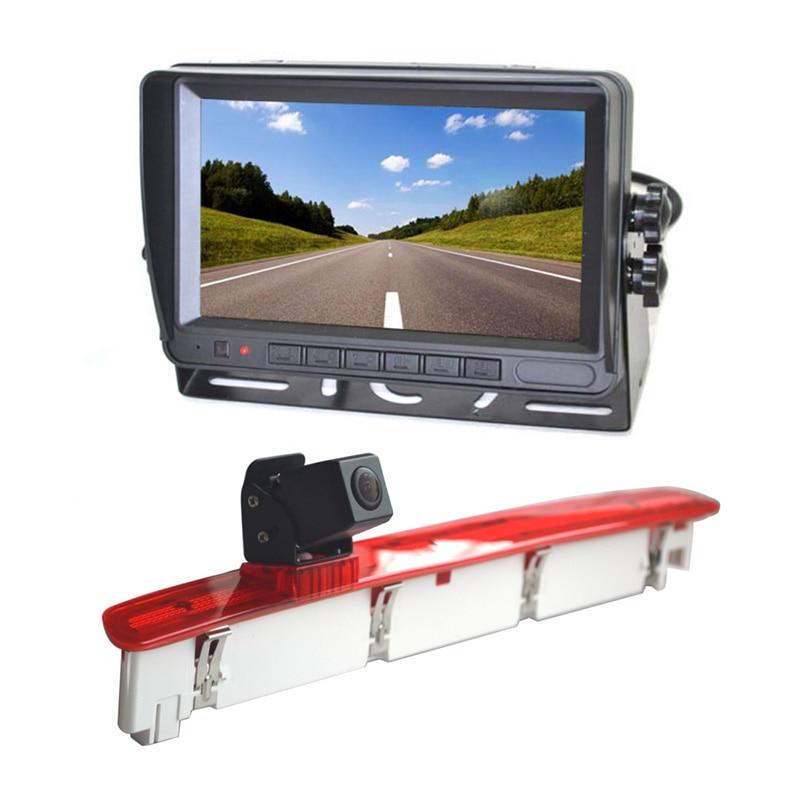 Vardsafe-caméra de recul du feu   VS588M et moniteur de vue arrière 7 pouces pour Volkswagen transporteur T6 van