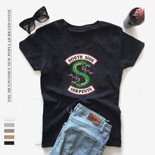 T Shirt Women Vogue Summer Harajuku Tops South Side Serpents Female T-shirt Riverdale Snake Printed Funny Vintage Tees Shirt