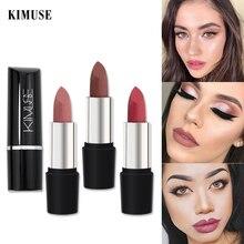 KIMUSE Matte Samt Lippenstift Einfach Zu Tragen Pigment Hot Nude Sexy Make-Up Wasserdicht Glatte Lip Gloss Lippen Professionelle Make-Up