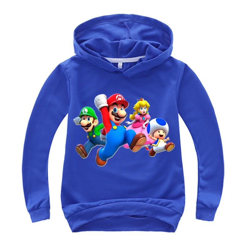 DLF 2-16 años de Cool Super sudadera de Mario, sudaderas para niños, sudaderas con capucha para jóvenes, jersey básico, sudadera para chicas, ropa de calle