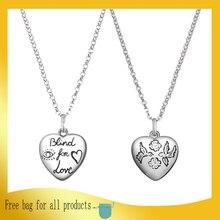 Argent Sterling 925 collier amour coeur intrépide de pendentif accessoires populaires 11 original Couple bijoux dames cadeau de vacances