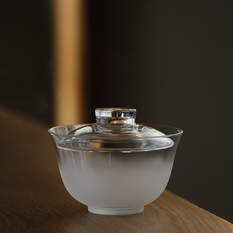 LUWU الزجاج المقاوم للحرارة gaiwan الزجاج الشفاف turin الكونغ فو توير 180 مللي