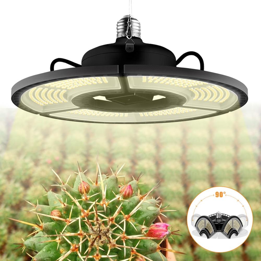 Светодиодный Grow светильник полный спектр 2835 Водонепроницаемый E27/E26 для комнатных растений светодиодный чипы Phytolamp для растений 85-265V Фито дл...