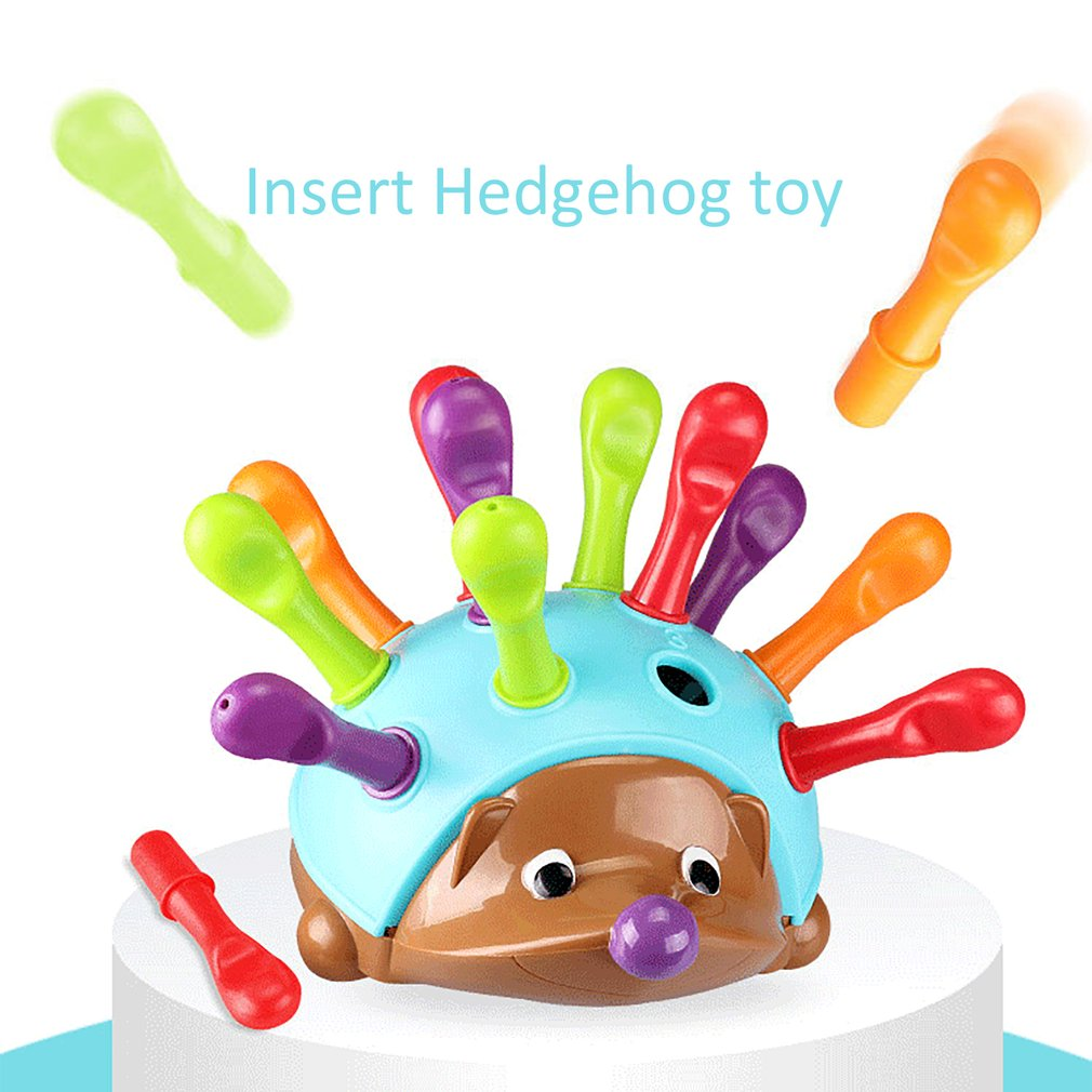 Training Focused on Children's Fine Motor Hand-Eye Coordination Fight Inserted Hedgehog Baby Educati