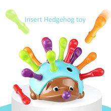 Eğitim odaklı çocuk güzel Motor el-göz koordinasyonu mücadele takılı kirpi bebek eğitici oyuncak