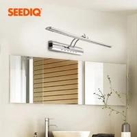 Applique murale etanche en acier inoxydable  luminaire moderne pour miroir de salle de bain  220v  110V  7W  40cm  9W  55cm  avec interrupteur