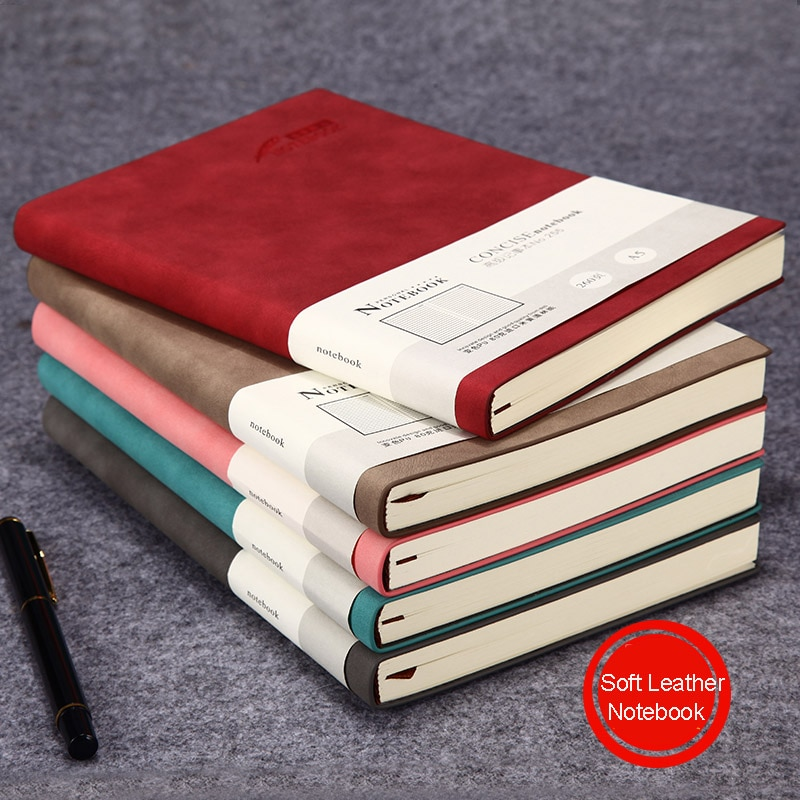 A5 suave de cuero cubierta de Biblia Bloc de notas planificador lindo tema 2019 del programa 2020 semana planificador de los viajeros Simple portátil estudiante suministros escolares