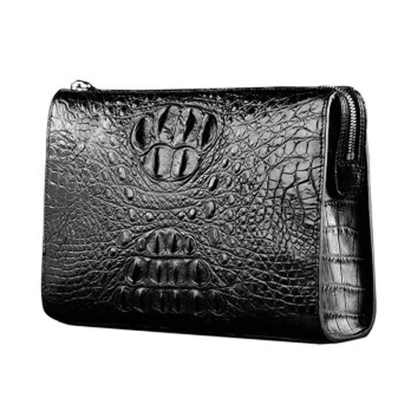 VVBrown  male  handbags  crocodile bag  large capacity  Men bags  business  zipper  Male hand bag men clutch bag