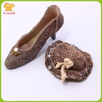 new 3d shoes silicone mould hat candy chocolate baking molds soap candle mold