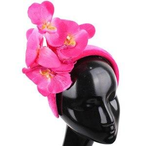 Beautiful Floral Decor Headband Wedding Bridal Hair Band Fascinators For Ladies Women Fashion Headwear Formal Dress Headdress