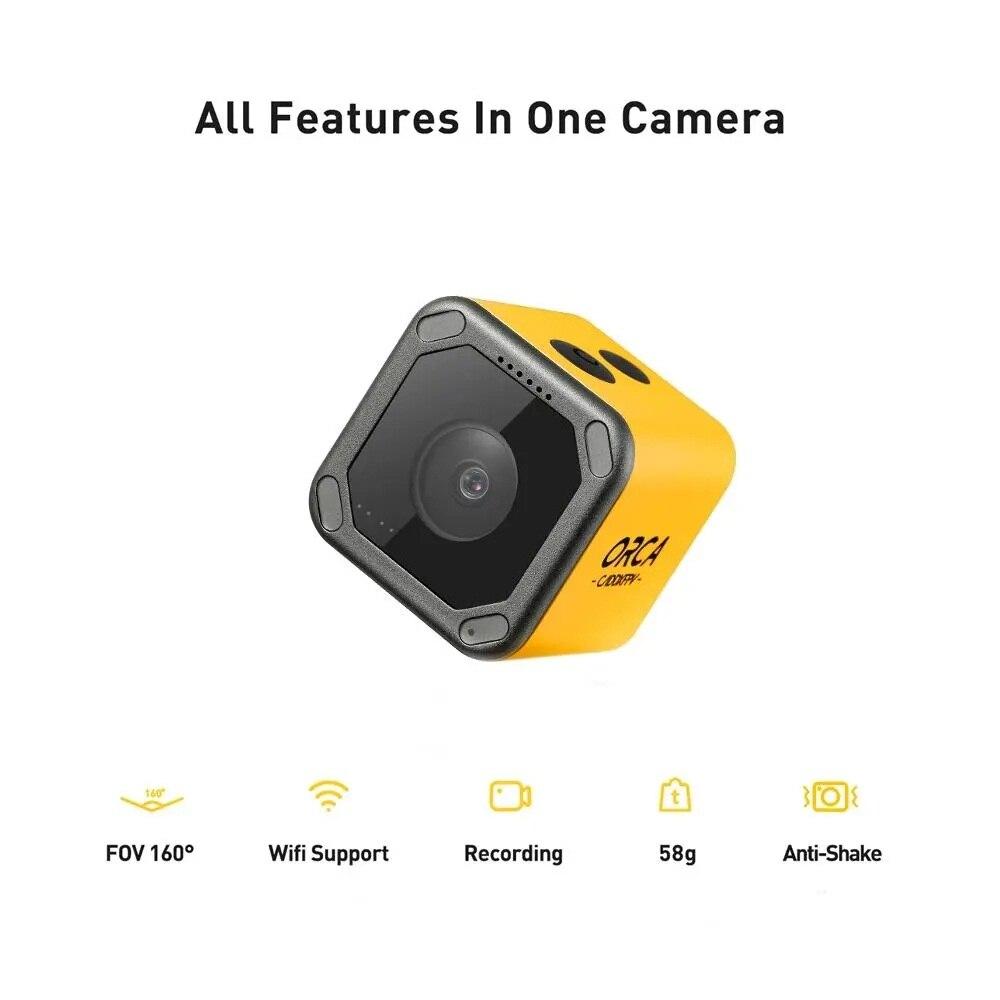 Caddx Orca-كاميرا تسجيل 4K HD FPV ، كاميرا حركة صغيرة ، رؤية FOV 160 درجة ، WiFi ، مضاد للاهتزاز ، تصوير خارجي ، RC ، سباق ، بدون طيار