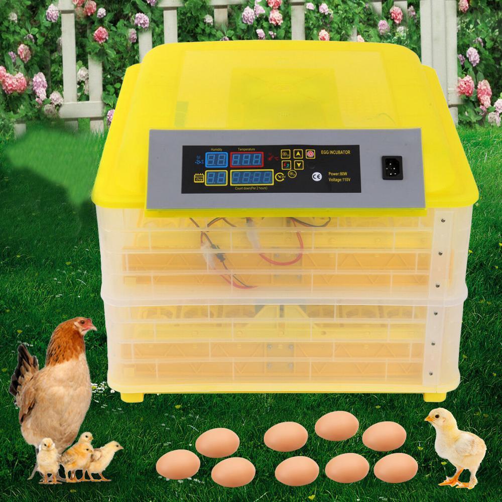 Yonntech 112 Eggs Incubator Automatic Egg Turning Temperature Control Incubator Chicken Egg Incubadora Poultry Hatcher Farm Home