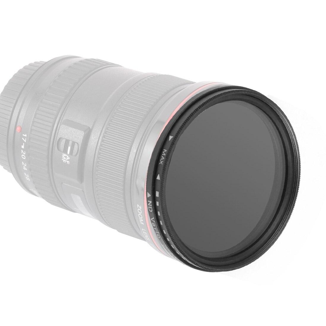 BGNing Camera Filter Lenses ND2-400 Neutral Density Fader Variable ND Filters Adjustable For Canon For Nikon 52/58/62/72/77/82mm