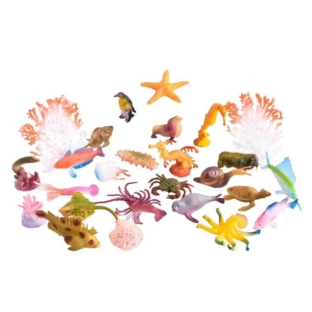 Simulation plastique océan animaux modèle figurines ensemble de Collection Marine pour les enfants