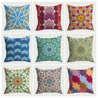 mandala tarot pattern cushion cover funny abstract short plush sofa bedroom cushions high quality double sided pillow covers