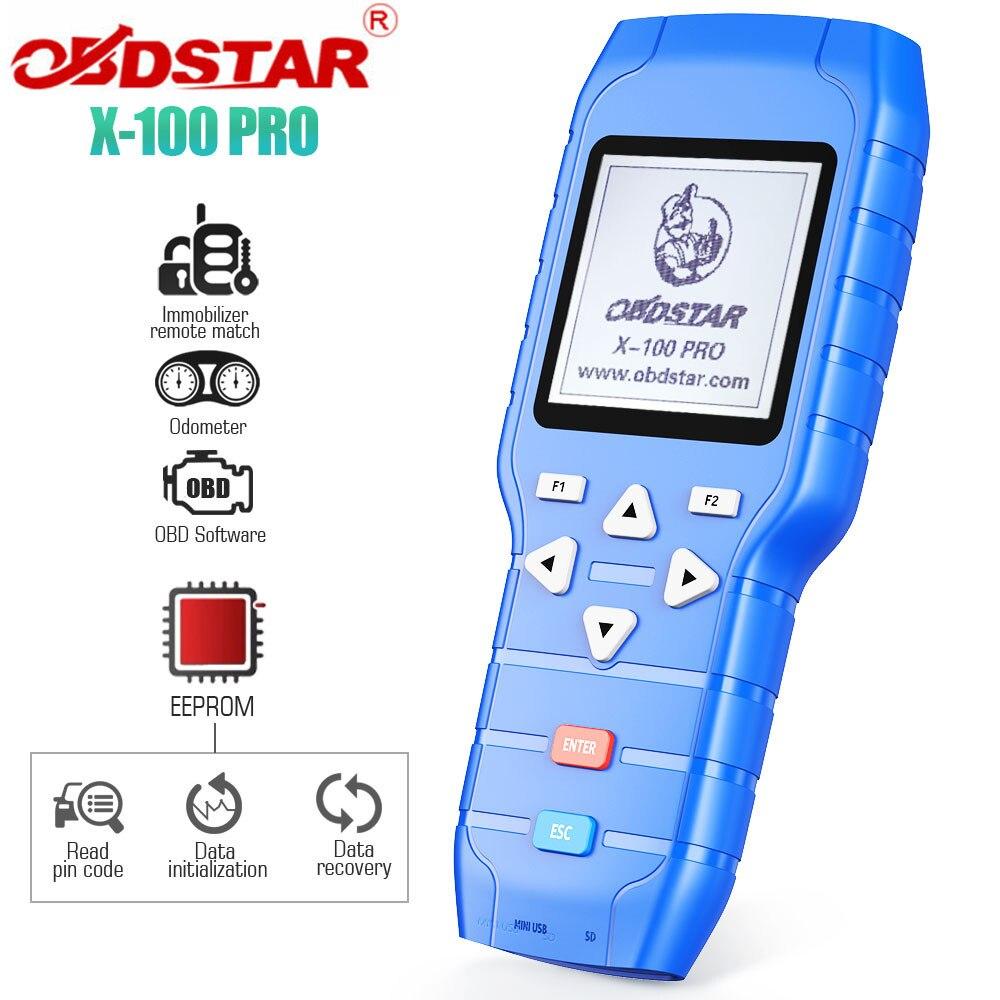 OBDSTAR X100 X100 PRO авто ключ программист (C + D + E) с EEPROM адаптер IMMO одометр коррекция OBD программное обеспечение инструмент