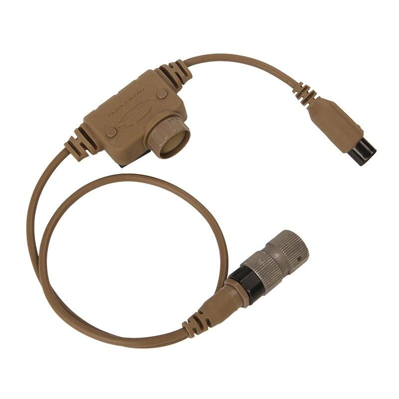 For  RAC Dedicated PTT 6 Pins For FCS TCA TRI PRC-148/152 Military FCS ComTac 3 ACH Tactical Communication Headphones