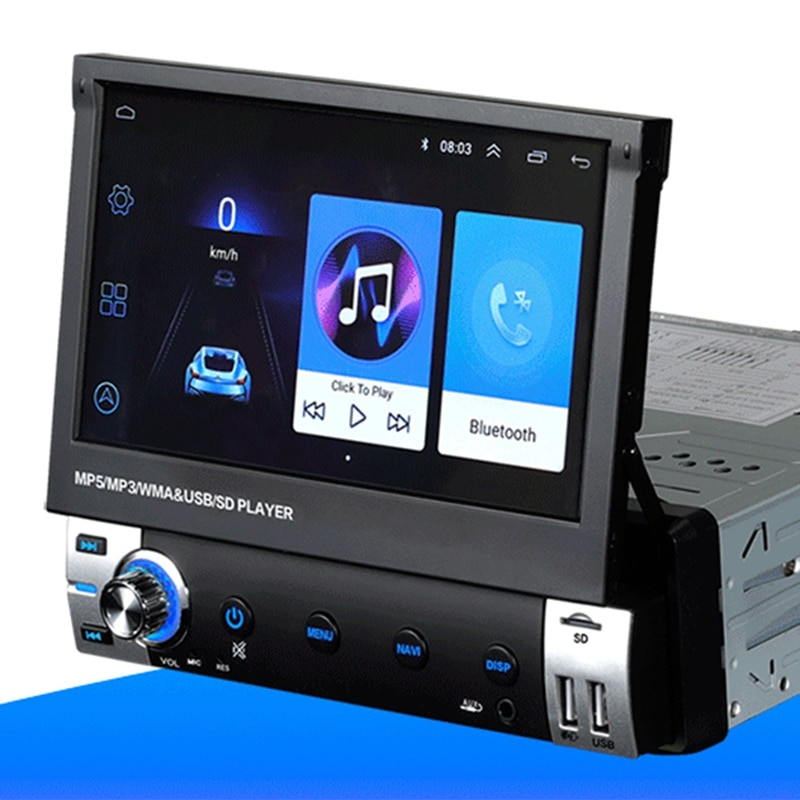 For Car Electronics DVD CD Support MP3 WMA WAV Car Radio Autoradio Aux Input Receiver Bluetooth Stereo Audio Player Multiimedia