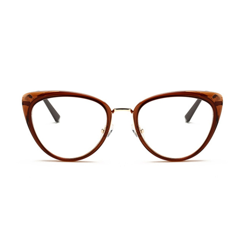 Gafas Miopía Con Prescripción 0 5 A 10 Los Hombres Y Las Mujeres De Ojo De Gato Anti Luz Azul Fotosensibles Corto De Vista óptica Gafas F210