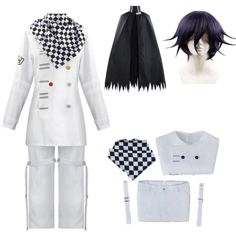 Униформа Kokichi Oma Danganronpa V3, шарф, плащ, комплект, косплей, костюм, одежда