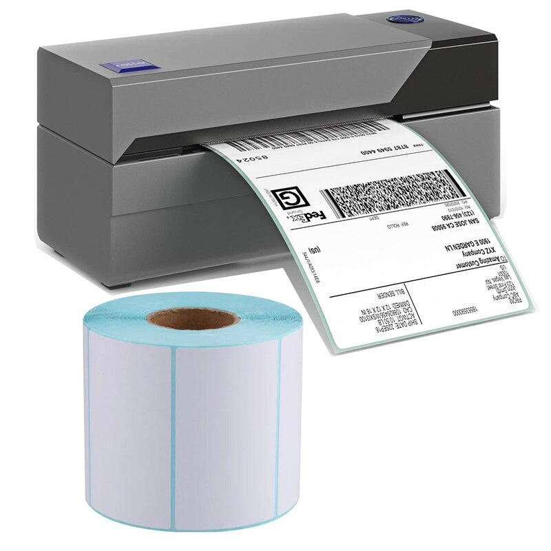 Thermal Paper Width 100*150MM Label Adhesive Stickers Barcode Sticker Waterproof Oilproof PrintTop Thermal Printer 1 Roll