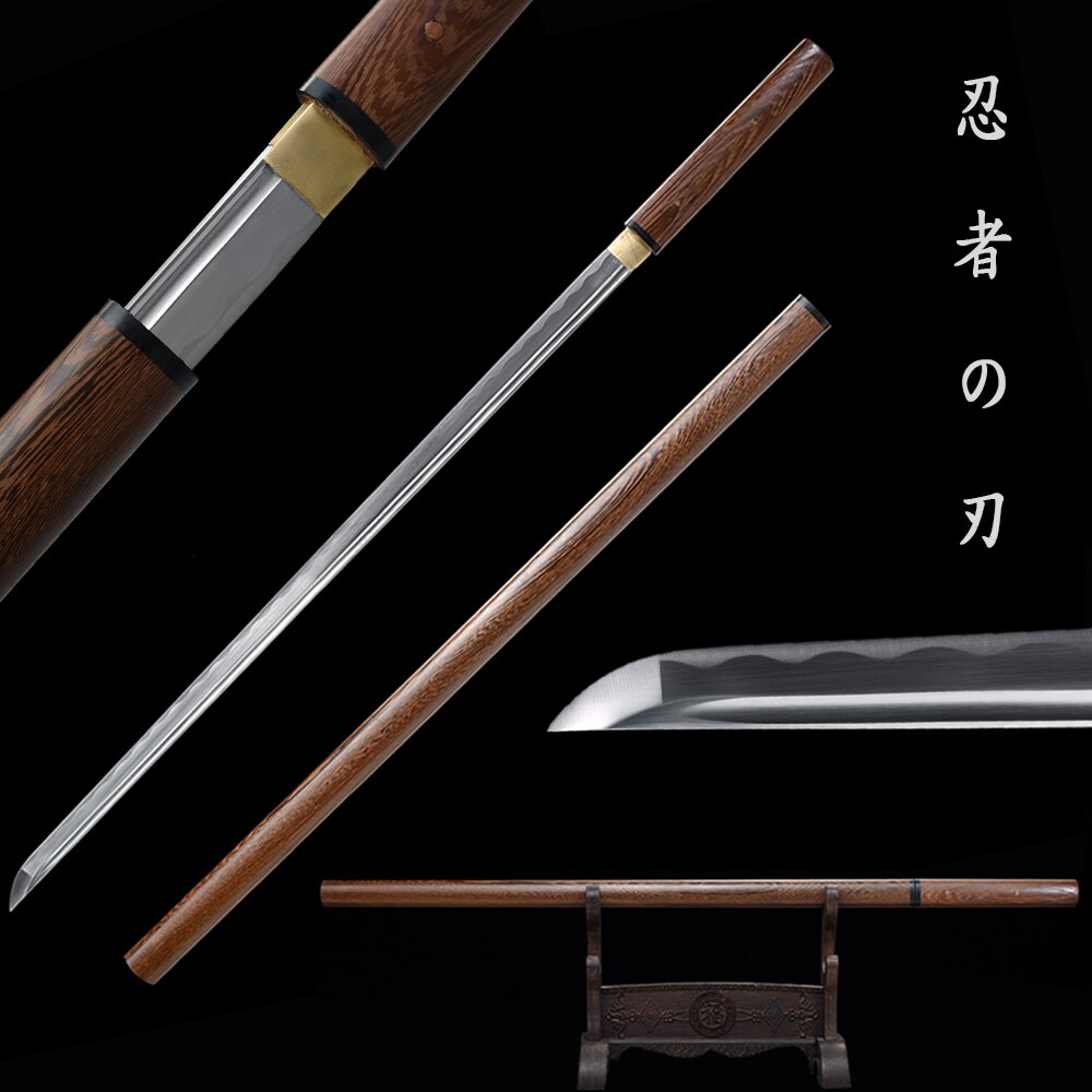 Real Katana 1060 Carbon Steel Rose Wooden Sheath Full Tang Blade Razor Sharp Ready For Cutting-Ninja Swords