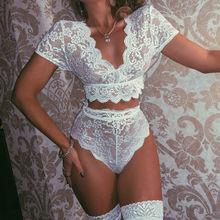 Dentelle Crochet Micro Bikini string plage Sexy maillots de bain évider Lingerie ensembles Transparent Bikini ensemble femme 2020 été offre spéciale
