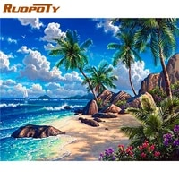 ruopoty diy 40x50cm painting by numbers tree landscape kits on canvas home decor gift acrylic pictures