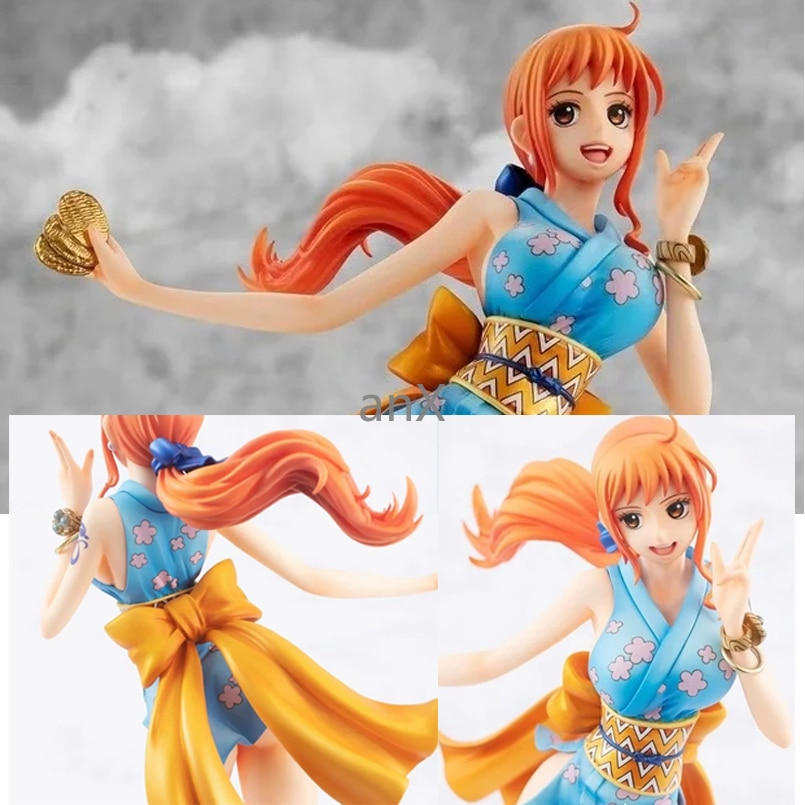 22.5cm Anime One Piece Nami Figure Short Skirt Female ninja PVC Action Figure Collection Doll Toys model For Children 15cm anime one piece figure combat version marshall d teach figure toys collection pvc action figure one piece toys model gifts