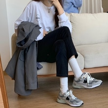 Large Size High Waist Straight Jeans for Women Spring and Autumn 2021 New