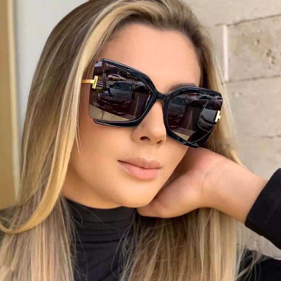 With Box 2021 Square Fashion Retro Brand Designer Luxury Sunglasses Vintage Shades