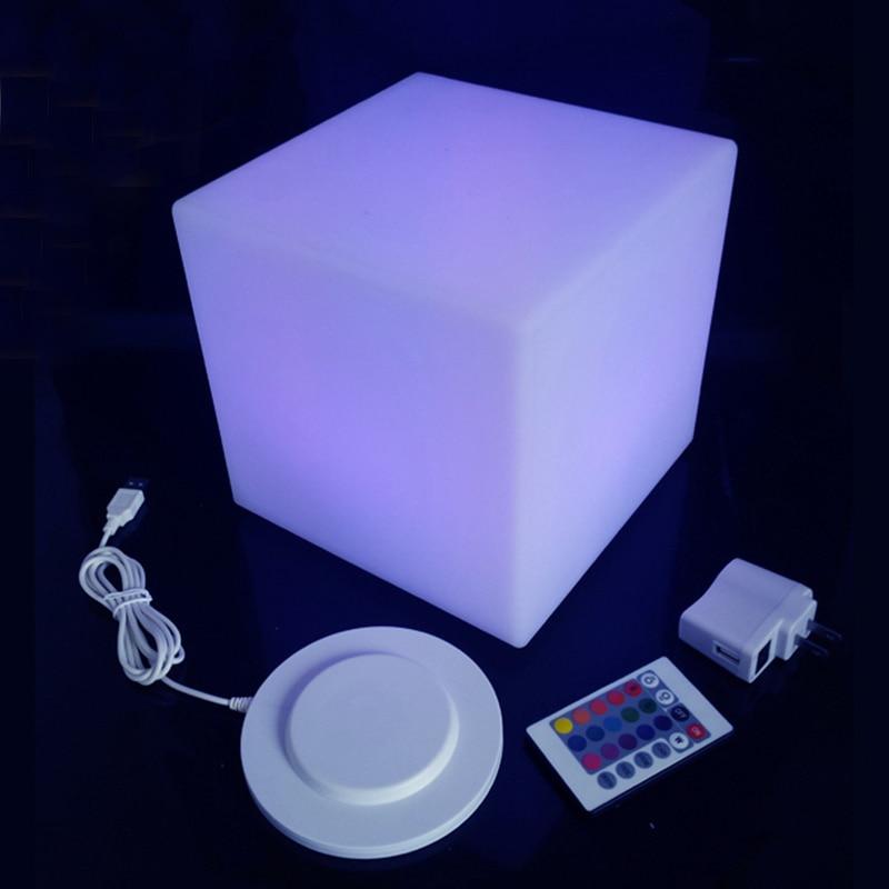 D20см светодиодный куб, мини-светодиодный светильник стул Куб для детей, цветной свет, Прямая поставка, бесплатная доставка, 1 шт.