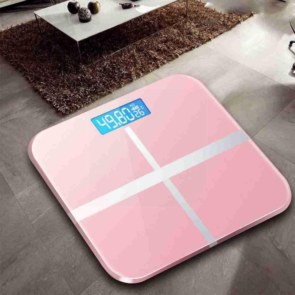 Bathroom Body Floor Scales Bath Scale Body Weighing Digital Electronic Glass Display Weight LCD Body
