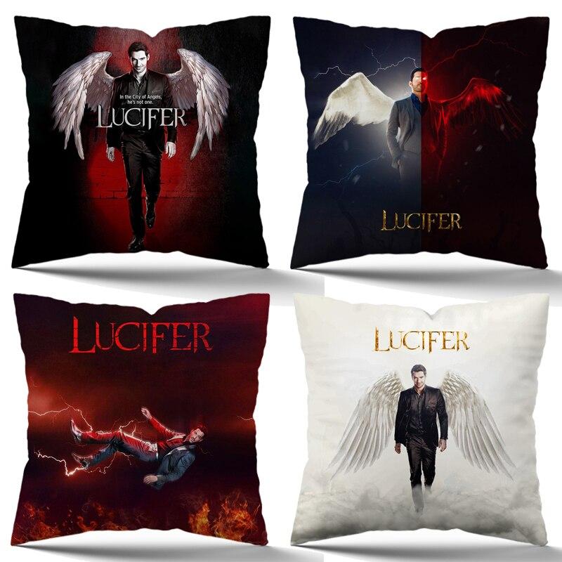 TV Show Lucifer чехол для подушки, крутые наволочки для домашнего кресла, дивана, кровати, украшение, чехол s 45*45 см без подушки
