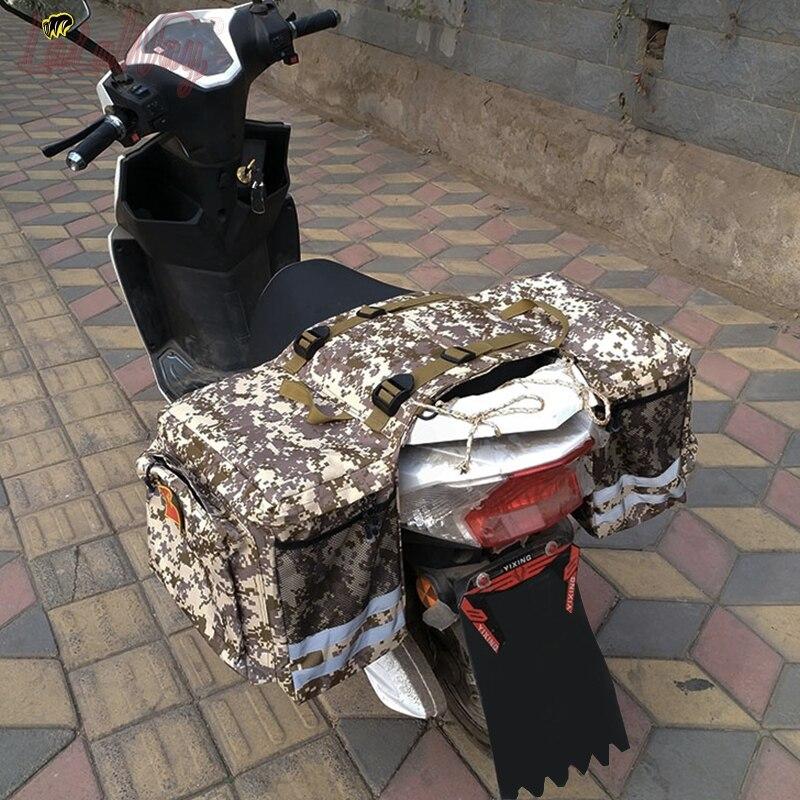 Регулируемые сумки для электрических мотоциклов, мотоциклов и велосипедов, багажные холщовые сумки для поездок, водонепроницаемая сумка д...