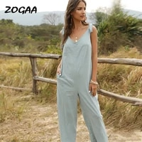 zogaa jumpsuits women womens bowknot sling solid loose casual bow all match basic new hot sale trendy female vocation girls
