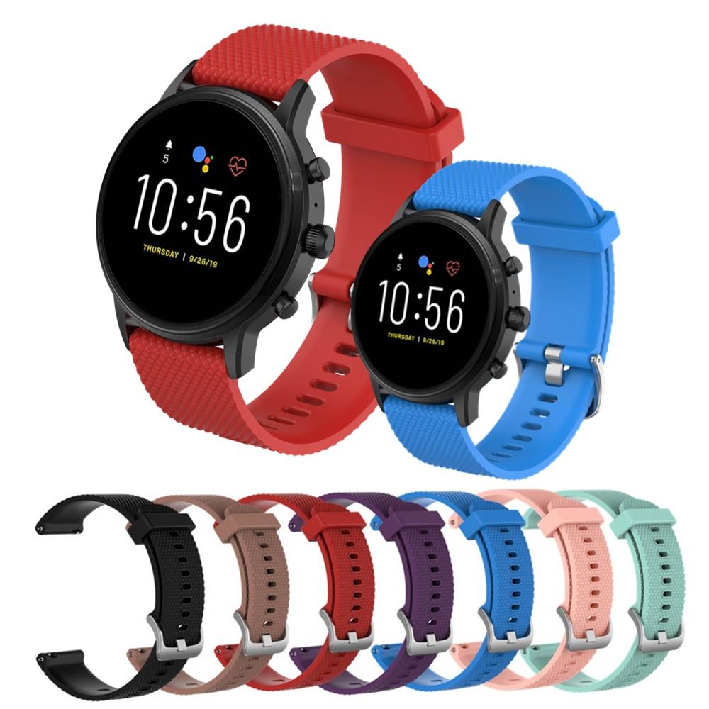 Brazalete de silicona deportivo para Fossil Gen 5 Carvel/Julianna/Garrett/Carvel HR 22mm Correa reloj inteligente Accesorios