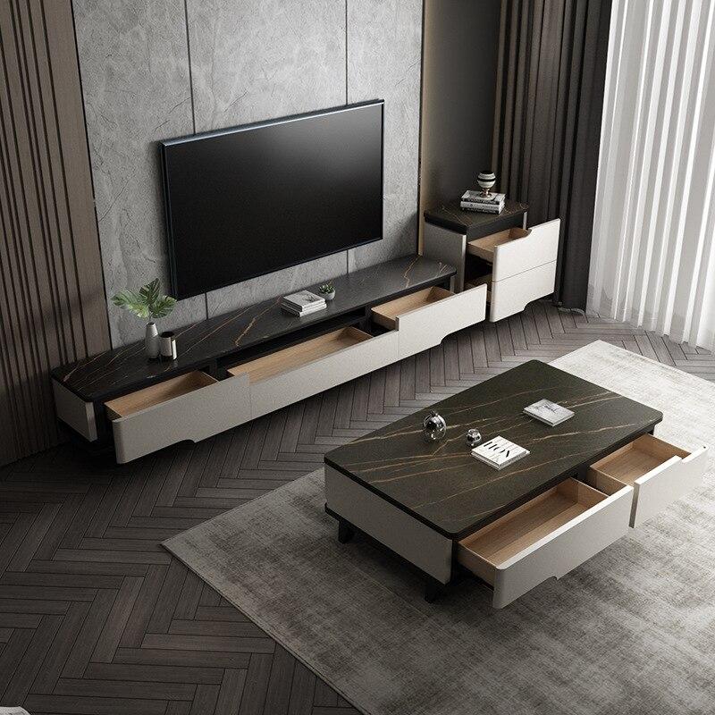 روك لوحة تلفزيون خزانة طاولة شاي ثلاث قطع الشمال خشب متين شقة صغيرة غرفة المعيشة تلفزيون مغاسل اليد